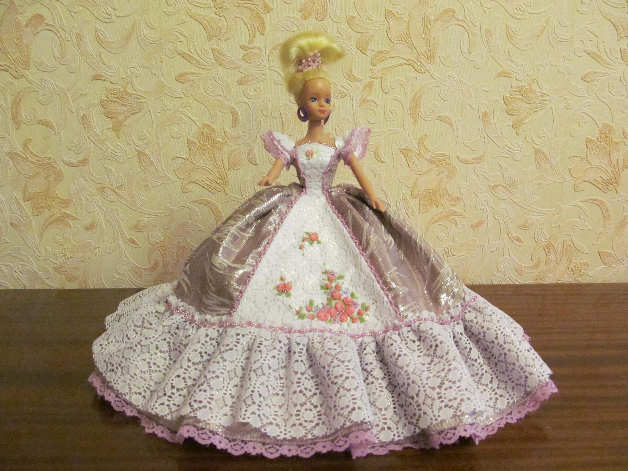 Как сшить для куклы платье фото